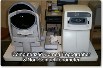 corneal-topography and non contact tonometer