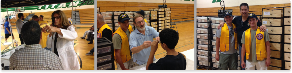 eye health screening with the Lions Club